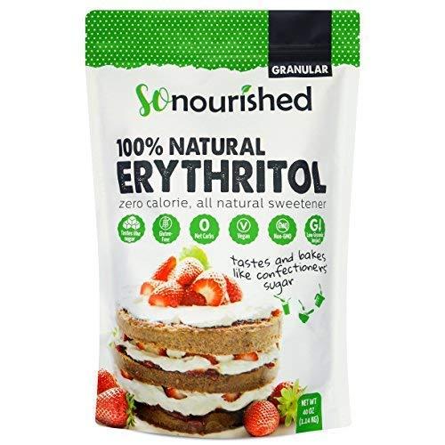 (Erythritol Sweetener Granular (2.5 lb / 40 oz) - No Calorie Sweetener, Non-GMO, Natural Sugar Substitute (2.5 Pounds))