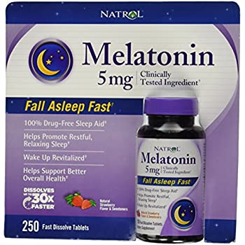 Natrol® Melatonin 5 Mg, 250 Fast Dissolve Tablets Strawberry Flavor