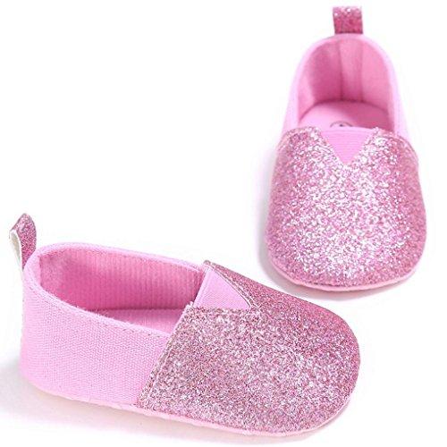 Saingace Kleinkind Mädchen Krippe Schuhe Neugeborene Blume Soft Sohle Anti-Rutsch Baby Sneakers Rosa