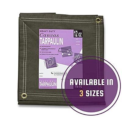 Olive Drab Canvas Tarpaulin (8 feet x 10 feet, Olive DRAB) - Tarps - .com