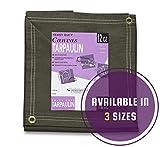 Tools & Hardware : 8' x 10' Olive Drab 21 oz Canvas Tarpaulin