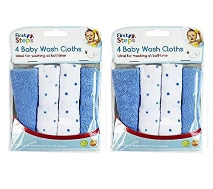 Pack de 8 toallitas suaves de franela lavables a máquina - Para bebé