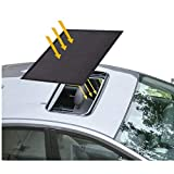 Sunroof Sun Shade Magnetic Net Car Moonroof Mesh 10 Seconds Quick Install Durable UV Sun Protection Cover for Baby Kids Breastfeeding When Parking on Trips- Black