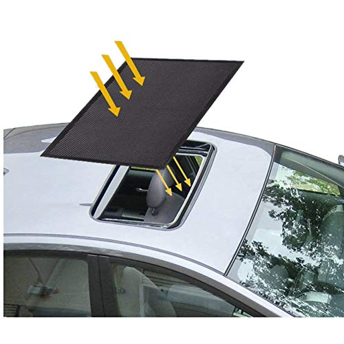 - Sunroof Sun Shade Magnetic Net Car Moonroof Mesh 10 Seconds Quick Install Durable UV Sun Protection Cover for Baby Kids Breastfeeding When Parking on Trips- Black