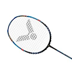 A combination of the integrated square-head frame and highly anti-torsion slim shaft provides the Thruster K Falcon with a larger sweet spot. The smart weight distribution and resilient shaft make it easier to serve and control the shuttlecoc...