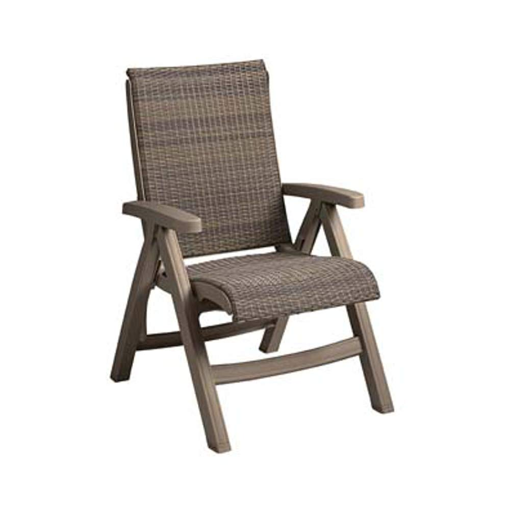 Grosfillex CT406181 Java Folding Chair, Taupe Frame, Taupe (Pack of 2)
