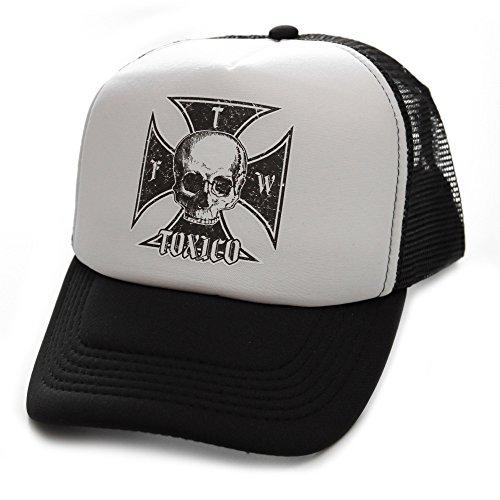 Toxico Clothing - Unisex Black-White Iron Cross Trucker Hat