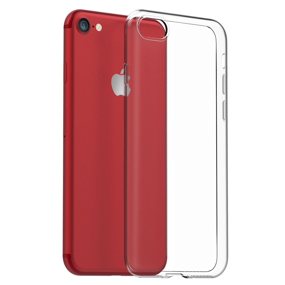EasyAcc Slim Case for iPhone 7 / iPhone 8 Case, TPU Phone Cases Transparent Crystal Clear Soft Thin Anti Slip Back Protective Cover Shockproof ...