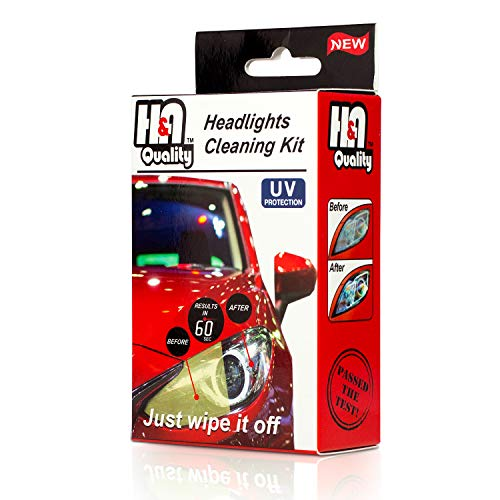 H&A Quality Headlight Restoration Kit. 3 Steps 60 Seconds, Guaranteed To Pass Inspection. With UV Protection