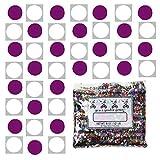 Confetti Circle 1/4'' Fuchsia, White Combo - One Pound Bag (16 oz) Free Priority Mail --- (8559/8682)