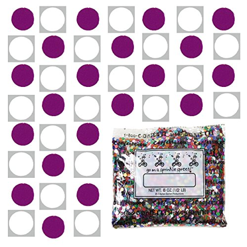 Confetti Circle 1/4'' Fuchsia, White Combo - One Pound Bag (16 oz) Free Priority Mail --- (8559/8682) by Jimmy Jems