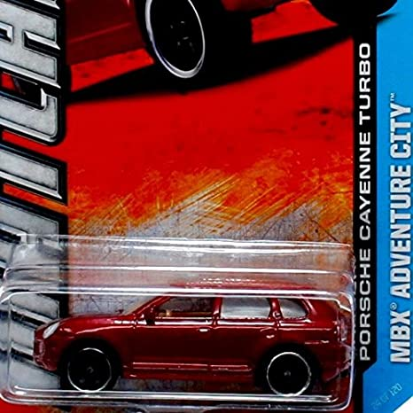 Amazon.com: PORSCHE CAYENNE TURBO (Red) MBX Adventure City 2013 Matchbox 1:64 Scale Basic Die-Cast Vehicle (#24 of 120): Toys & Games