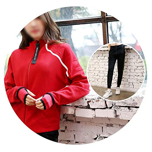2 Pieces Sportswear Female Fitness Tights Sport Suit Yoga Set,Red ()