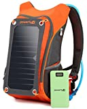 Powerfly ECO Solar Powered Backpack 10000mAh Power Bank, 2L Hydration Pack, 7W Solar Panel - Hiking Camping Travel Portable Sun Charger Kit for Charging Tablet Camera Smart Phone