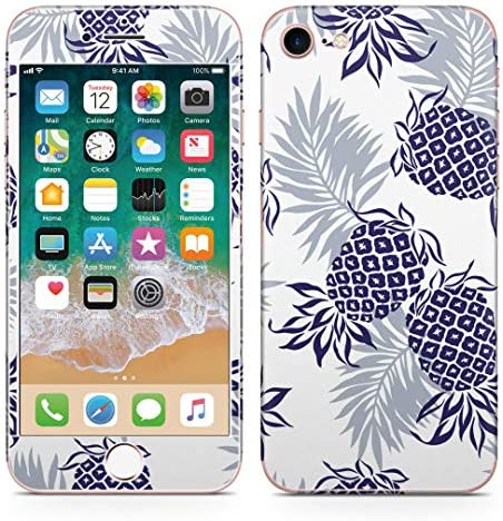 igsticker iPhone SE 2020 iPhone8 iPhone7 専用 スキンシール 全面スキンシール フル 背面 側面 正面 液晶 ステッカー 保護シール 006874 フラワー パイナップル 果物 模様
