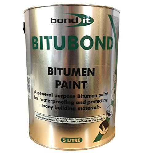 5LTR Bitubond Black Bitumen Paint - roof repair waterproofing all weather...