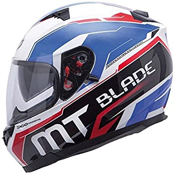 MT BLADE-Casco para moto integral SV SUPER R-Double pantalla, color blanco