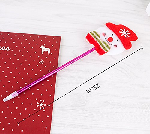Spaufu 12x Stylo à Bille Non Rétractable Style Noël Papeterie Pour