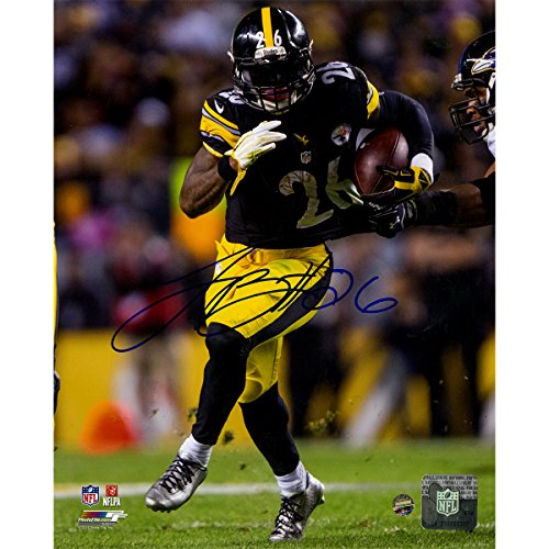 Leveon Bell Autographed NFL National Football League Pittsburgh Steelers Action 8 Inches By 10 Inches Photo by...