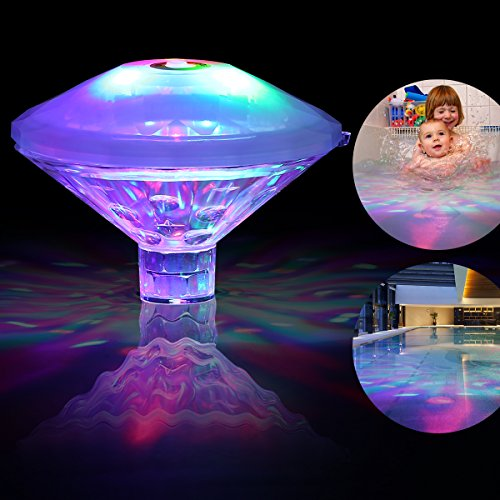 FTSTC baby pool light Waterproof Swimming Pool Lights, RGB, 7 Modes, Battery Operated Floating Pool Light Bulb for Pool, Pond, Hot Tub or Party Decorations (Solar Dome Lights)