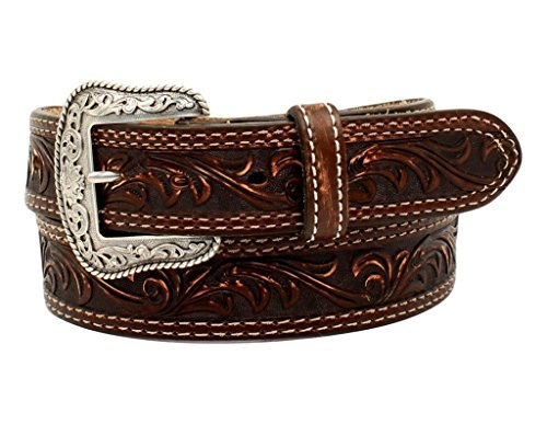 Nocona Men's Nocona Pecos Usa Brown Belt Accessory, -brown, 46