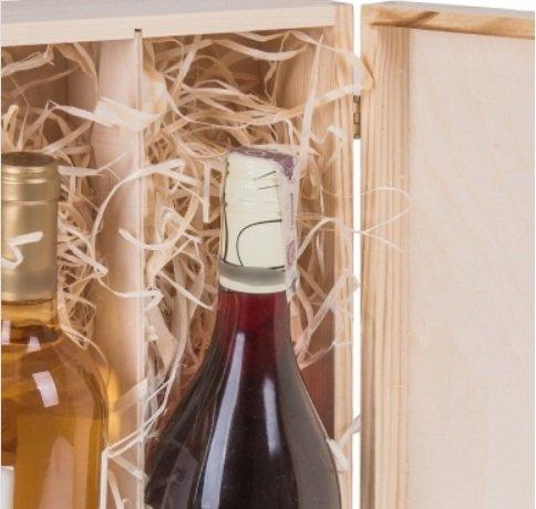 Botellas de Vino Caja de Regalo con Tapa y candado para 2 botellas de vino: Amazon.es: Hogar