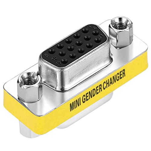 You May Female to Female VGA HD 15 Pin Gender Changer Convertor Adapter Mini Female Connector
