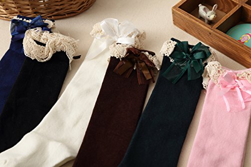 Cuisse Chaud Genou En Acvip Confortable 8 Coton Noir Hiver Couleurs Haute Ans 5 Enfant Fille Chaussette Dentelle Jambières 1 xww4AXqP