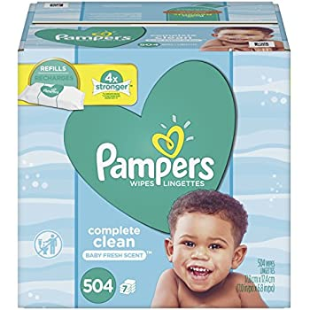 Pampers Baby Wipes Complete Clean Scented 7X Refill, 504 Count