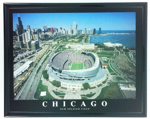 (Framed Aerial Photo of Chicago Bears New Soldier Field LL5000A)