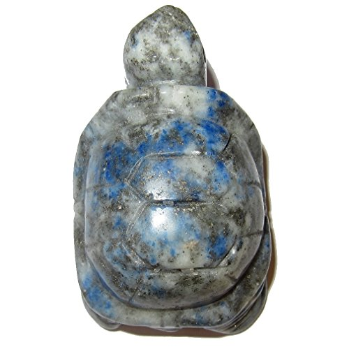 Animal Turtle Lapis 01 Cute Blue Lazuli Gemstone Carving Crystal Heailng Stone Statue 2