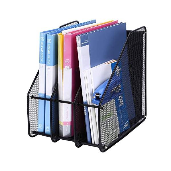 Retail Paratpar 3 Layer Metal Mesh File Rack Desktop Document, News Paper, Letter, Trays Storage Frame Office Desktop Supplies 3