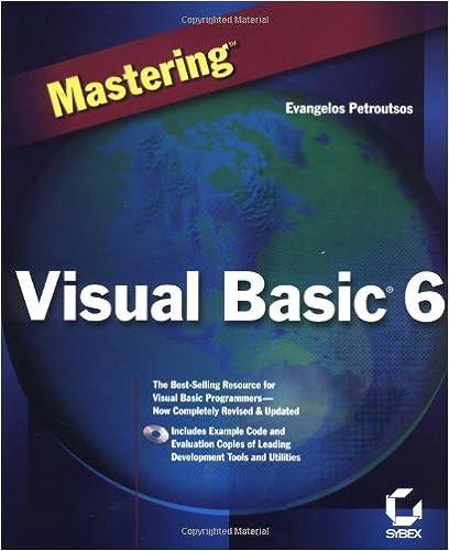 Mastering Visual Basic 6: 0025211222720: Computer Science