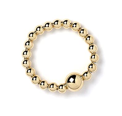 9ct Yellow Gold Ball Bead Bracelet hSji6S2bDZ