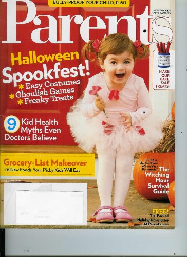 Parent October 2010 Halloween Spookfest, 26 New Foods Your Picky Kids Will Eat, Bully-Proof Your Child, Bake Sale Treats, Save on Your Family's Medical Bills -