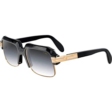 f03cd4d280d Amazon.com  Cazal 670 Sunglasses 001 Shiny Black Gold   Gray ...