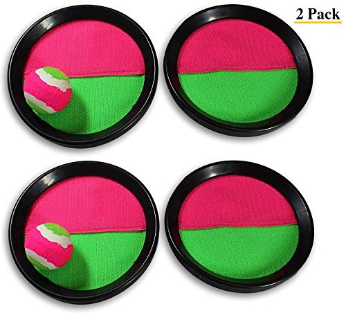 Paddle Catch Toss and Catch Ball Game Set! Throw Catch Bat Ball Game (2 Pack)  for Kids and -