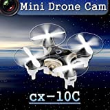 MyBDJ Cheerson CX-10C Mini 2.4G 4CH 6 Axis LED RC Quadcopter with Camera RTF Black
