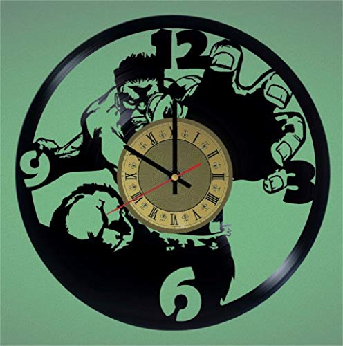 yl Clock | Hulk Superhero | Best Gift Marvel Comics Fans | Original Wall Home Decor ()