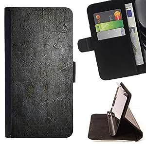 Momo Phone Case / Flip Funda de Cuero Case Cover - NEGRO MODELO DEL GRUNGE DE LA VENDIMIA - Samsung Galaxy S6 Active G890A