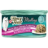 Purina Fancy Feast Medleys White Meat Chicken Florentine With Garden Greens in a Delicate Sauce Adult Wet Cat Food - Twenty-Four (24) 3 oz. Cans