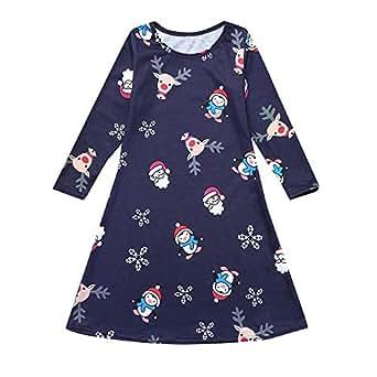 92bbfe728 Amazon.com  Parent-Kids Christmas Parent-Child Long Sleeve Cartoon ...