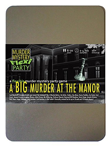 Murder Mystery Flexi Party A Big Murder at The Manor 6-20 Player