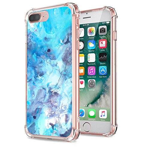 Price comparison product image iPhone 8 Plus Case Beryerbi Ultra Skinny Soft TPU Air Cushion Technology Protective Cover (iPhone 8 Plus, 6)