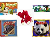 Children's Gift Bundle - Ages 3-5 [5 Piece] - Shrek Forever After Memory Game - Dora The Explorer Decorative Border - TY Beanie Baby - Snort the Bull - Thomas and the Breakdown Train / Thomas and t