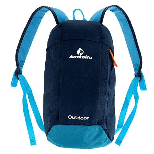 Price comparison product image 10L Outdoor Backpack Leisure Sports Bags for Cycling Traveling Hiking Mountaineering Unisex Kids Pack (Dark Blue)