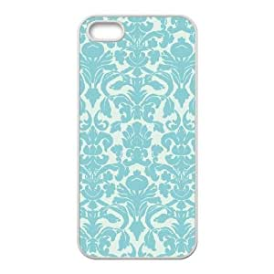 iPhone 5,5S Phone Cases White Vintage Damask FJo879800
