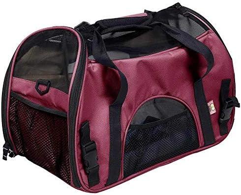 ペットの袋、 ペットバッグ、ポータブルメッセンジャーバッグ、新世代オックスフォード布およびメッシュ布、耐久性、通気性、大容量、小動物旅行 (Color : F, Size : L)