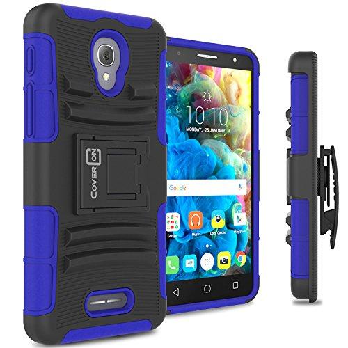 Alcatel Fierce 4 Case, Alcatel One Touch Allura Case, Alcatel Pop 4 Plus Case CoverON Hybrid Armor Phone Cover For Alcatel Fierce 4 OneTouch Allura Pop 4+ Holster Case -Blue