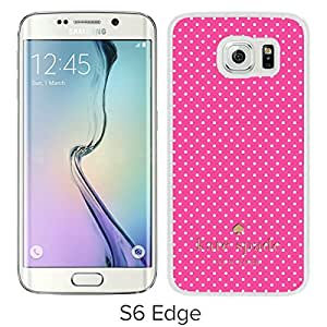 Newest Kate Spade Samsung Galaxy S6 Edge Case ,Popular And Unique Designed Kate Spade Cover Case For Samsung Galaxy S6 Edge White Phone Case 261